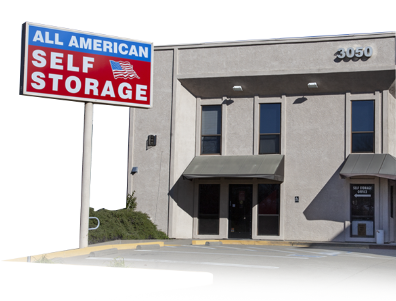 Exterior of the Office at All American Self Storage